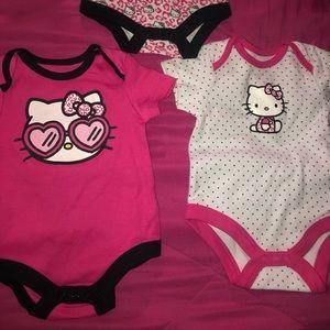Hello kitty baby onesies